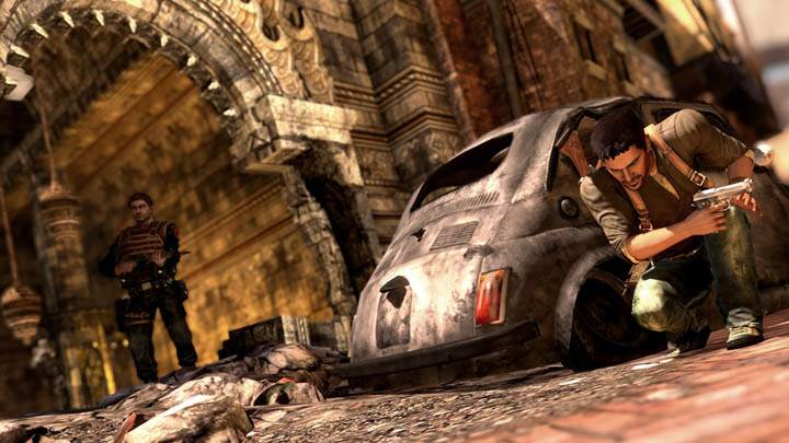 Uncharted 2 – Nathan Drake Behind The Car