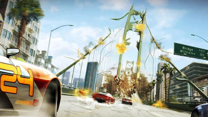 Burnout Paradise – Destroying The Bridge