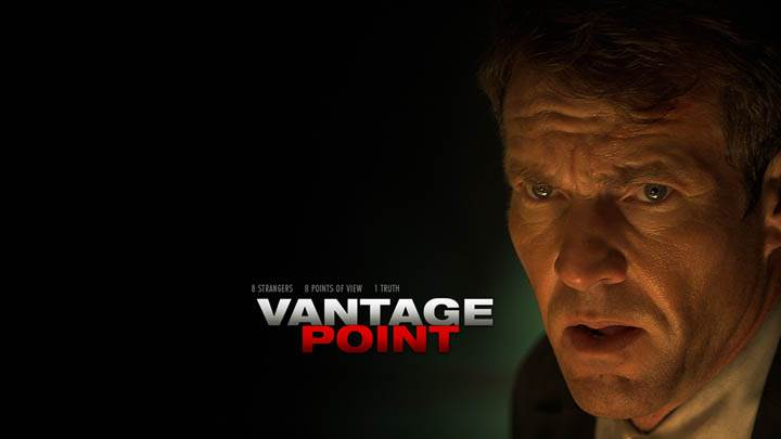 Dennis Quaid Face Closeup In Vantage Point