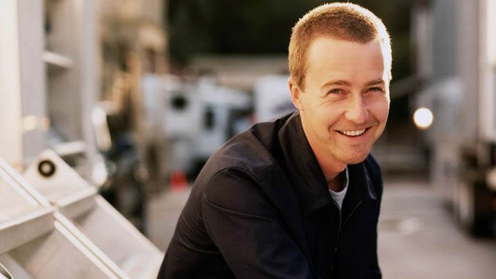 Edward Norton Smiling Face Photoshoot