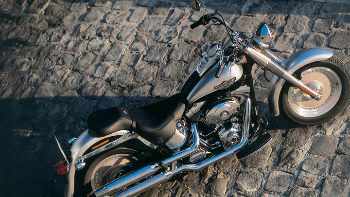 Harley Davidson FLSTFI Softail Fat Boy – Top View