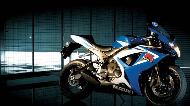 Suzuki GSX R750 Bike Blue Color