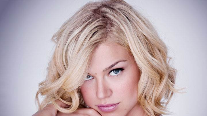 Adrianne Palicki Pink Lips & Golden Hair Face Closeup
