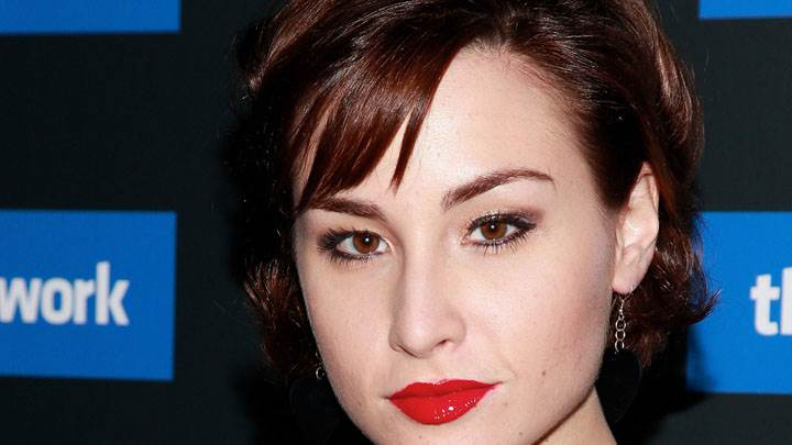 Allison Scagliotti Red Lips Face Closeup