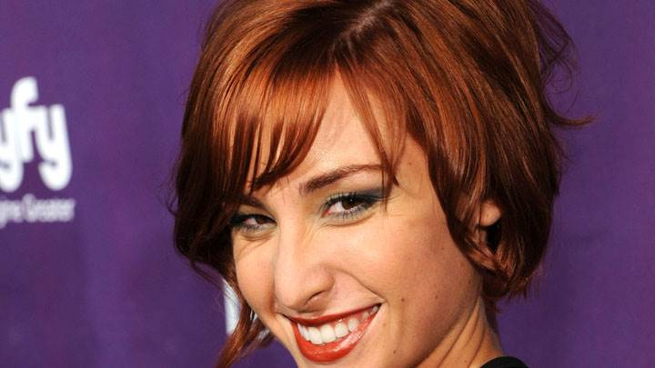 Allison Scagliotti Smiling At SyFy Event