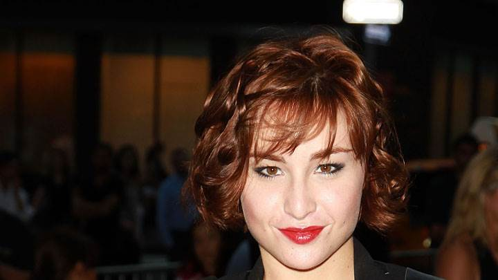 Allison Scagliotti Smiling Red Lips & Brown Hairs