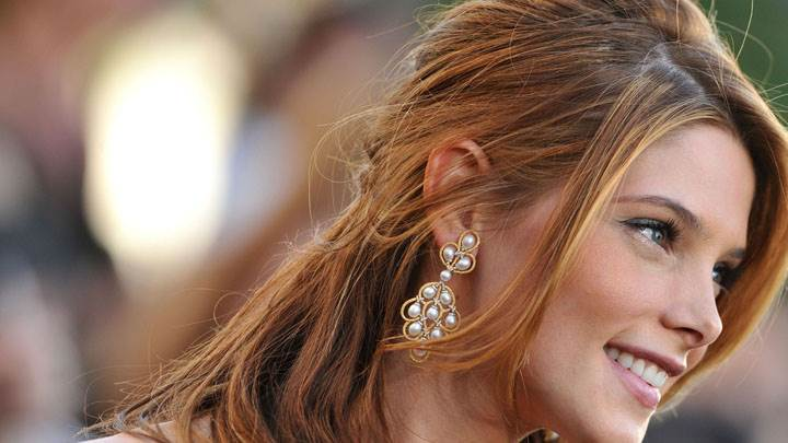 Ashley Greene Smiling Side Face Closeup