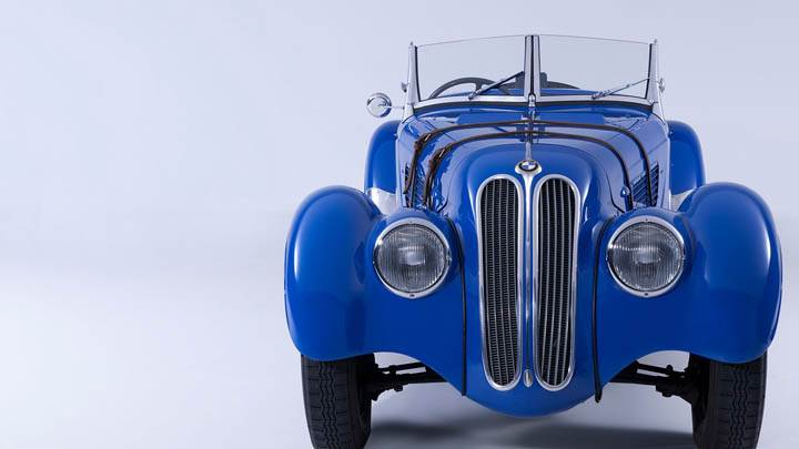 1936 BMW 328 Blue Color Front