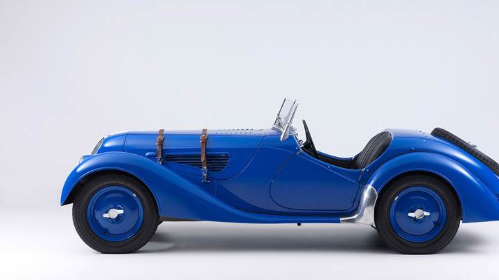 1936 BMW 328 Blue Color Side Photo
