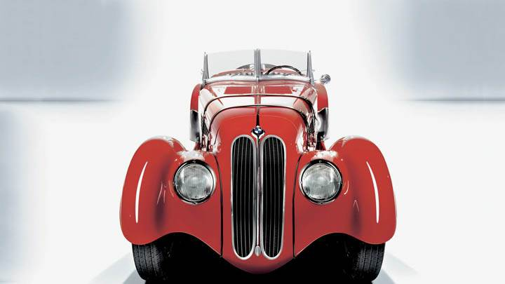 1936 BMW 328 Red Color Front View
