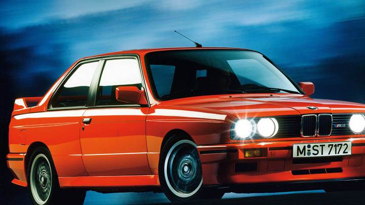 1988 BMW M3 E30 Red Color Front Side View