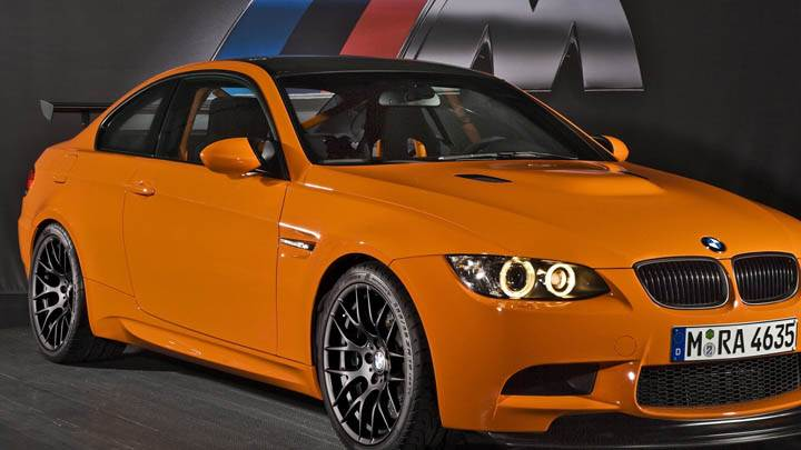 2010 BMW M3 GTS Front Pose In Orange Color