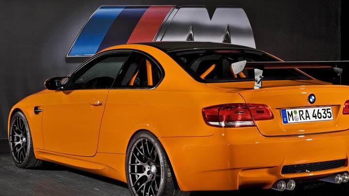 2010 Bmw M3 Gts Orange Color Back Pose