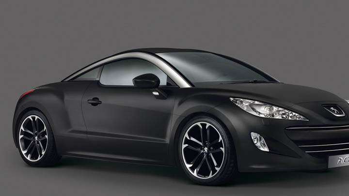 2010 Peugeot Rcz Asphalt Black Color Side Front View