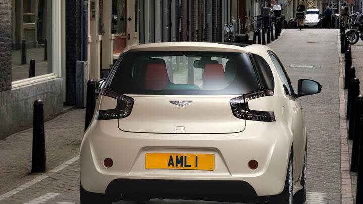 2011 Aston Martin Cygnet Back Pose Parked In A Street