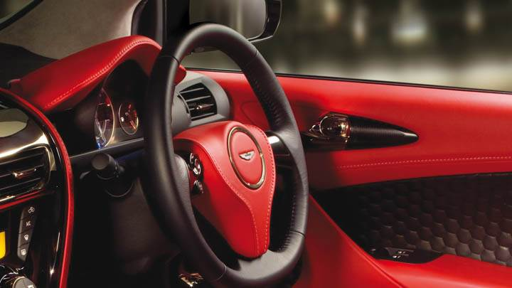 2011 Aston Martin Cygnet Interior In Red Color