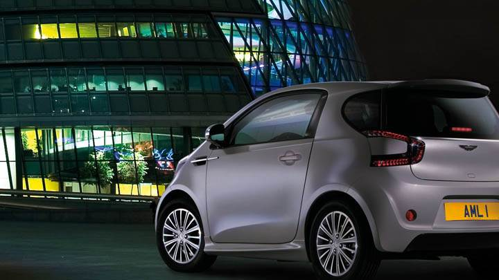 2011 Aston Martin Cygnet Parked Outside Mall In Silver Color