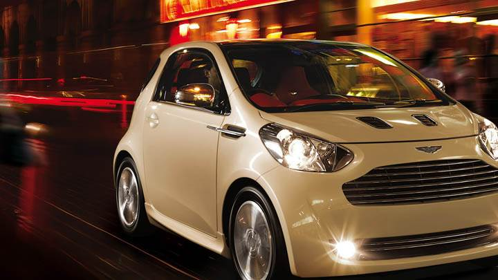 2011 Aston Martin Cygnet Running On Street Front Pose