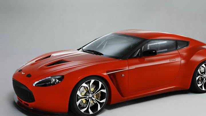 2011 Aston Martin V12 Zagato Red Color Side View