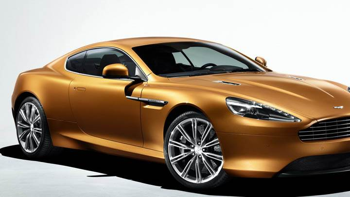 2011 Aston Martin Virage Front Side View In Golden