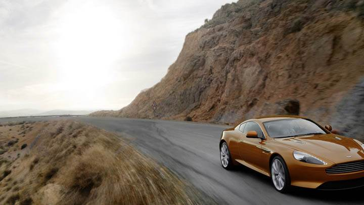 2011 Aston Martin Virage In Mountain Area Front View