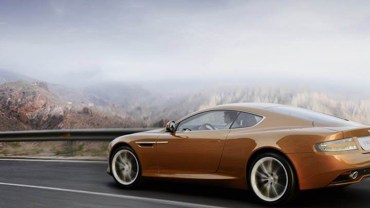 2011 Aston Martin Virage Near Mountain Area