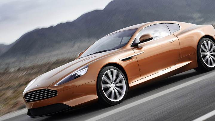 2011 Aston Martin Virage Running On Highway