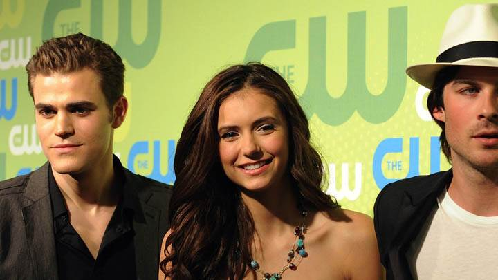 All Three Smiling – Nina Dobrev, Paul Wesley & Ian Somerhalder