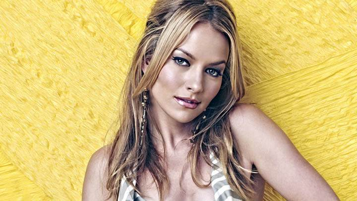 Becki Newton Cute Eyes & Yellow Background
