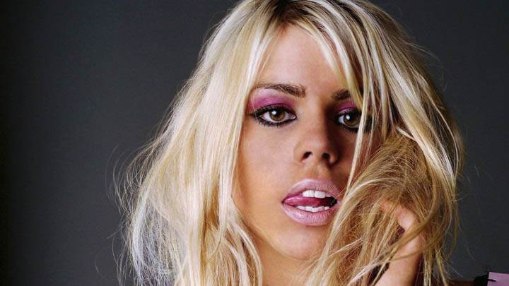 Billie Piper Pink Lips & Golden Hair Face Closeup