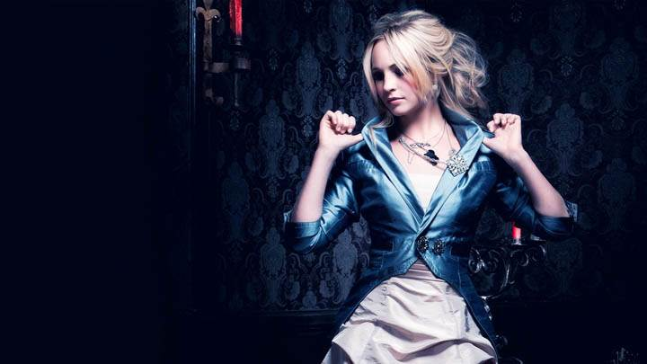 Candice Accola in Blue Coat Photoshoot