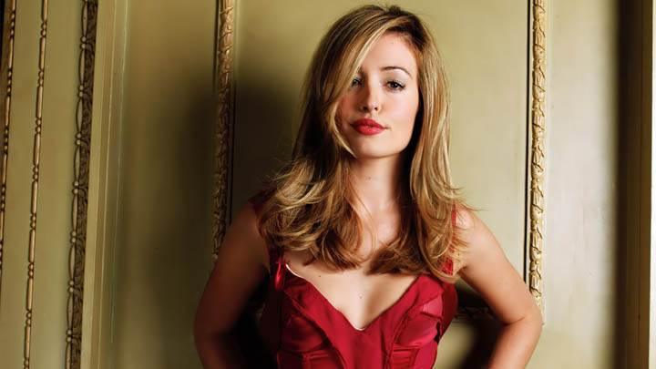 Cat Deeley In Red Dress & Lips Photoshoot