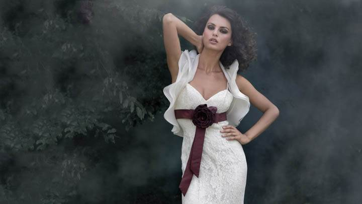 Catrinel Menghia In White Long Dress Modeling Pose