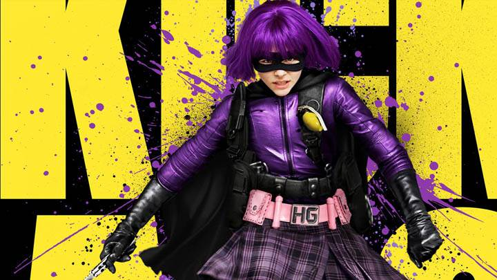 Chloe Moretz Purple Dress & Hairs In Kick-Ass