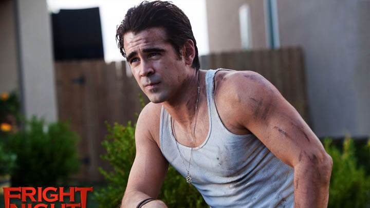 Fright Night Colin Farrell Sitting Outside House