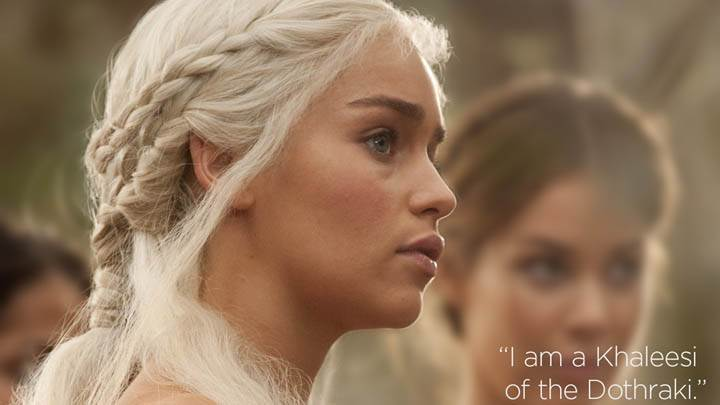 Game Of Thrones – Emilia Clarke White Hairs & Side Face Closeup
