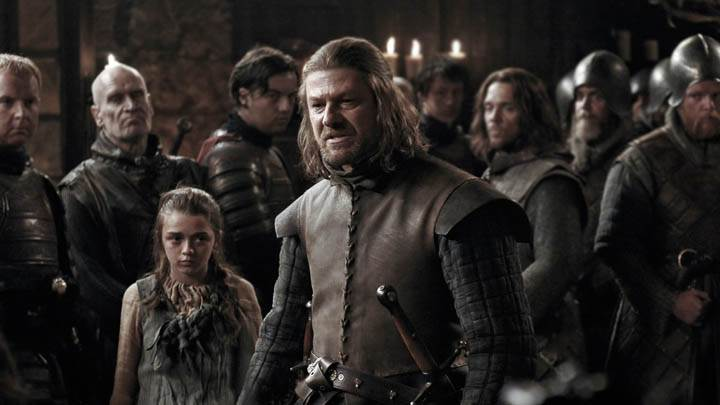 Game Of Thrones – Sean Bean With Cute Girl & Soldiers