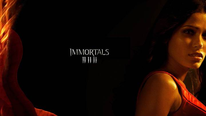 Immortals – Freida Pinto Side Pose Photoshoot