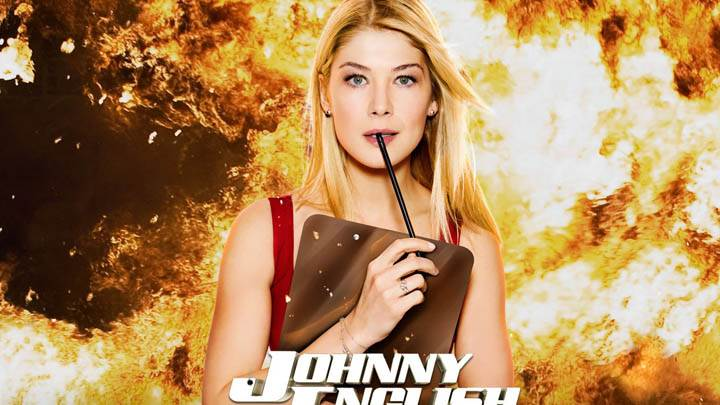 Johnny English Reborn – Rosamund Pike Photoshoot