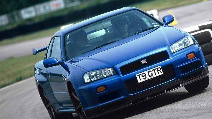 Nissan Skyline Gt R R34 Ruuning On Race Track