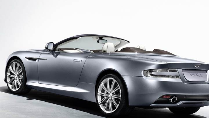 Side View Pose Of 2011 Aston Martin Virage Volante