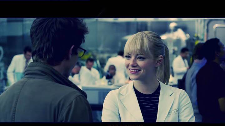 The Amazing Spider-Man – Emma Stone Smiling With Andrew Garfield