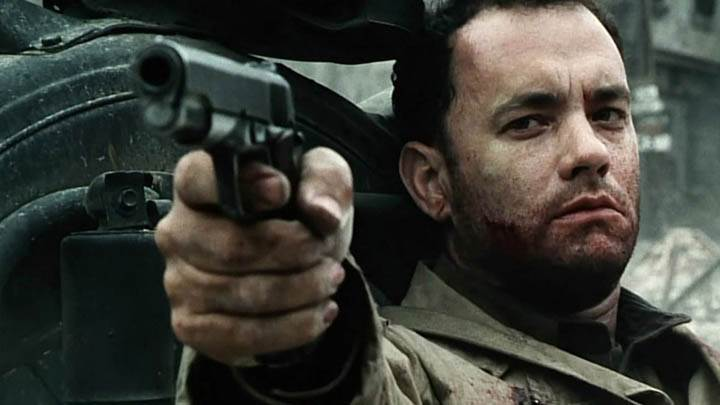 Tom Hanks Holding A Gun