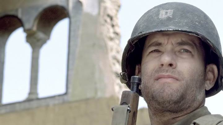 Tom Hanks In Soldier Dress