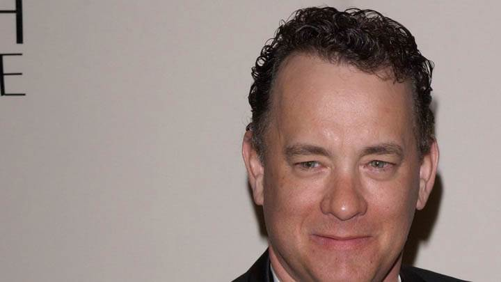 Tom Hanks Smiling Face Closeup In Event