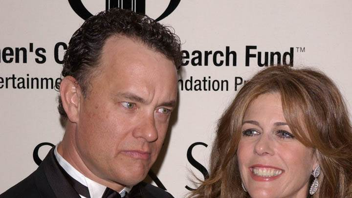 Tom Hanks With Female Closeup Pose In Event