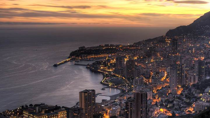 Twilight In Monaco At Sunset