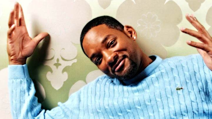 Will Smith Smiling In Blue T-Shirt