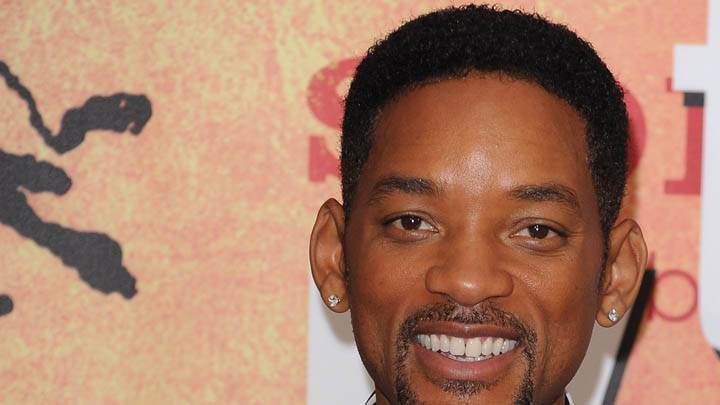 Will Smith Smiling & Looking Front Closeup