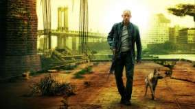 Will Smith With Dog In I Am Legend